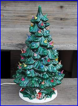 Vintage Atlantic Mold Ceramic Astro Rocket Lights Ceramic Christmas