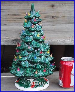 Vintage Atlantic Mold Ceramic Astro Rocket Lights Ceramic Christmas Tree Over 60