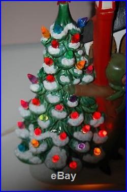 Vintage Atlantic Mold Ceramic Christmas Tree & Carolers