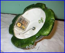 Vintage Atlantic Mold Ceramic Christmas Tree Music Box Flocked