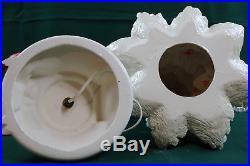 Vintage Atlantic Mold White Ceramic Christmas Tree 23 3 Pc Extra Large Size