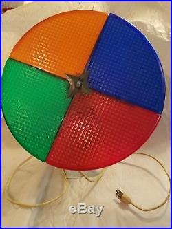 Vintage Atlas Aluminum Christmas Tree Rotating Color Light Wheel works! Video
