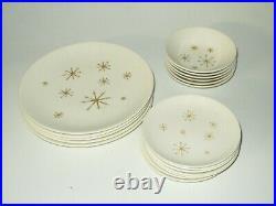 Vintage Atomic Starburst Royal China Star Glow Mid Century Modern lot of 18