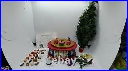 Vintage Avon Advent Tree Music Box Christmas Lights Angel Ornaments COMPLETE