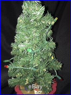Vintage Avon Christmas is Coming Advent Revolving Musical Christmas Tree