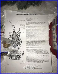 Vintage Avon Christmas is Coming Advent Revolving Musical Christmas Tree Nib