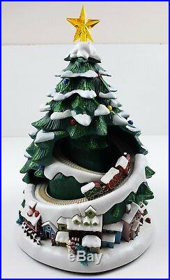 Vintage Avon Musical Lighted Christmas Tree Moving Train And Lighted Viliage