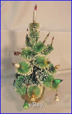Vintage BOTTLE BRUSH Christmas Tree Mercury Glass Ornament Decorations