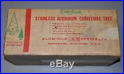 Vintage Beautiful Boxed1960s 4ft Evergleam Fountain Aluminum Christmas Tree