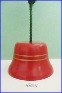 Vintage Berry Tipped Feather CHRISTMAS Tree BELL shaped base