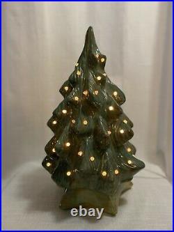 Vintage Black Bird Mold Ceramic Christmas Tree