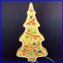 Vintage Blow Mold Christmas Gingerbread Tree Don Featherstone HTF Union
