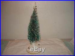 Vintage Bottle Brush Revolving Musical Christmas Tree 17'' Japan