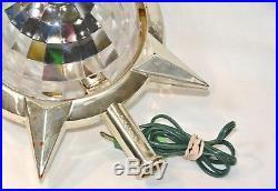 Vintage Bradford CELESTIAL STAR Christmas Tree Topper Electric Lighted Motion