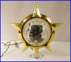 Vintage Bradford CELESTIAL STAR Christmas Tree Topper Revolving Motion COMPLETE