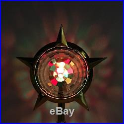 Vintage Bradford Celestial Christmas Tree Topper SPINS Motion Lamp CLEAN WORKS