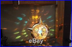 Vintage Bradford Celestial Light Christmas Tree Top Spinner with Box with Stand