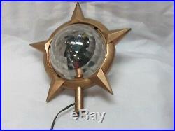 Vintage Bradford Celestial Light Star Spinner Christmas Tree Topper WORKS Star