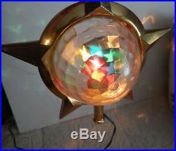 Vintage Bradford Celestial Motion Light Star Christmas Tree Topper Complete