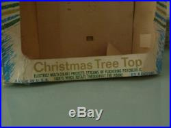 Vintage Bradford Celestial Spinning Star Christmas Tree Topper With Original Box