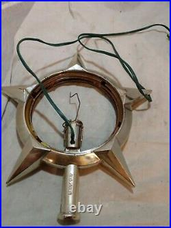 Vintage Bradford Celestial Star Christmas Rotating Tree Topper AS IS AS PICTURED