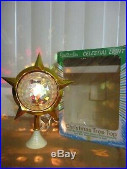 Vintage Bradford Celestial Star Christmas Tree Topper in Original Box (a)