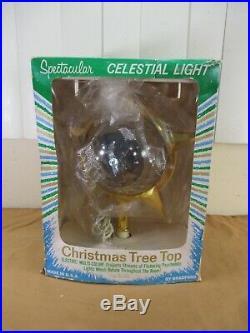 Vintage Bradford Celestial Star Christmas Tree Topper in Original Box (b)