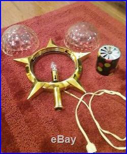 Vintage Bradford Christmas Celestial Star Motion Tree Topper NICE
