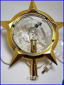 Vintage Bradford Christmas Lighted Tree Topper Celestial Star Motion Light w Box