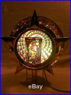 Vintage Bradford Christmas Moving Motion Nativity Scene Tree Topper Light withBox