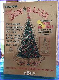 Vintage Bradford Christmas Tree Snow Maker Rare