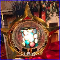 Vintage Bradford Christmas Tree Topper Celestial Star Motion Light Works