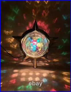 Vintage Bradford Heat Motion Celestial Star Christmas Tree Topper READ DETAILS