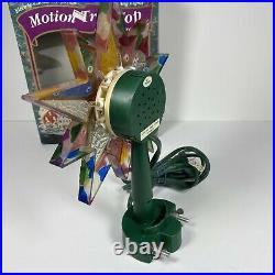 Vintage Bradford Revolving Motion Color Star Wheel Christmas Tree Topper