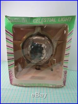 Vintage Bradford Spectacular Celestial Light Star Spinner Christmas Tree Topper