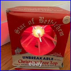 Vintage Bradford Star Of Bethlehem Tree Topper Christmas Decoration Works