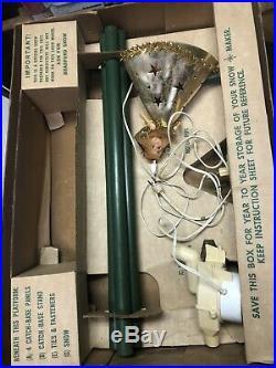 Vintage Bradford Xmas Tree Snow Maker Machine original box For Repair