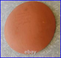 Vintage Breininger 10½ Merry Christmas Tree Redware Plate 1984 PA Folk Pottery