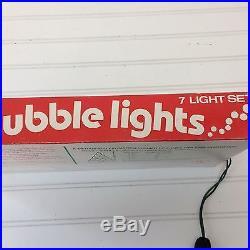 Vintage Bubble Lights Set Of 7 Original Box Ritz Christmas Tree 40's 50's