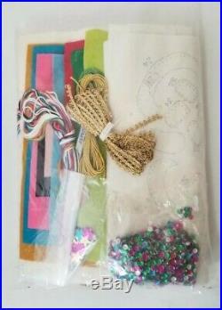Vintage Bucilla 45 Christmas Tree Skirt Kit Up Away Air Balloon Tablecloth 8016