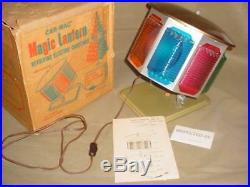 Vintage CAR-MAC Revolving Color Wheel & BOX for Aluminum Christmas Tree WORKS