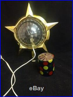 Vintage CELESTIAL Christmas TREE TOPPER Motion Light Ornament Read Bradford