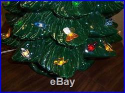 Vintage CERAMIC CHRISTMAS TREE 2 part 20 Birds Butterflies Multi Color AM