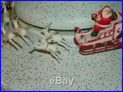 Vintage CHRISTMAS Tree Turner by Penet-Ray-WITH SANTA -SUPER RARE-1960'S-MUSICAL