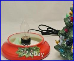 Vintage CHRISTOPER RADKO LIGHTED CERAMIC CHRISTMAS TREE Complete IN BOX