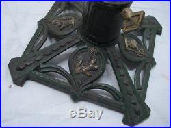 Vintage Cast Iron German Christmas Feather Tree Stand Aluminum Mini