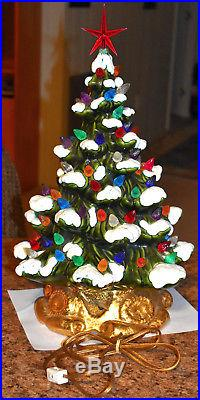 Vintage Ceramic 19 Christmas Tree Light, Lamp, Snow Tipped Branches, Music Box
