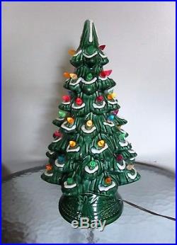 Vintage Ceramic 2 Piece Christmas Tree by California Originals 17