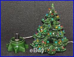 Vintage Ceramic Christmas Tree 15 Atlantic Mold Multi Color Green Tree Nice