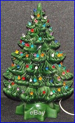 Vintage Ceramic Christmas Tree 15 Atlantic Mold Multi